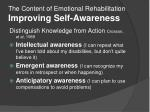 the content of emotional rehabilitation improving self awareness1