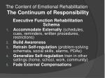 the content of emotional rehabilitation the continuum of responsibility