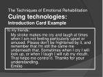 the techniques of emotional rehabilitation cuing technologies introduction card example
