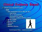 clinical evidence based