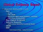 clinical evidence based1