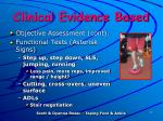clinical evidence based2
