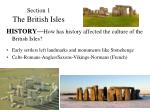 section 1 the british isles