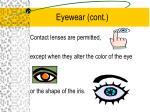 eyewear cont
