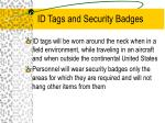id tags and security badges
