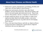 about heart disease and mental health