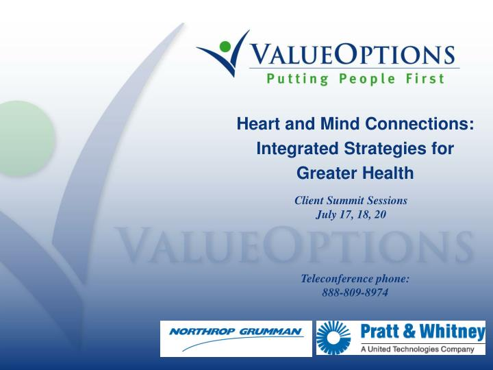 heart and mind connections integrated strategies for greater health n.