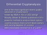 differential cryptanalysis