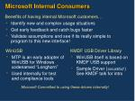 microsoft internal consumers