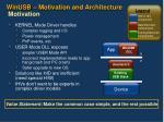 winusb motivation and architecture motivation