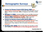 demographic surveys
