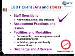 lgbt client do s and don ts