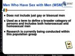 men who have sex with men msm