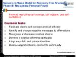 neisen s 3 phase model for recovery from shame phase iii reclaiming personal power