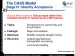the cass model stage iv identity acceptance