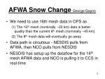 afwa snow change george gayno