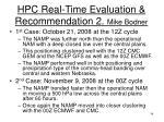 hpc real time evaluation recommendation 2 mike bodner