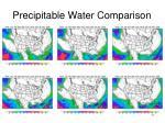 precipitable water comparison