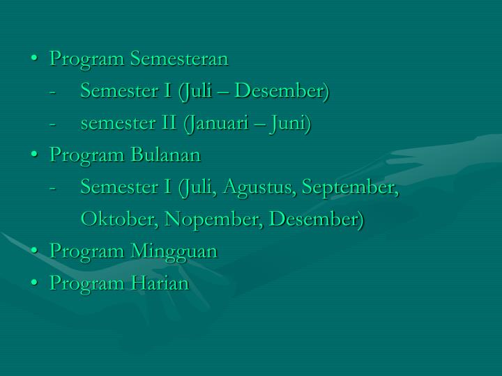 Program Semesteran