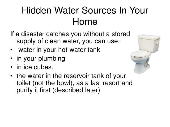 Hidden Water Sources In Your Home