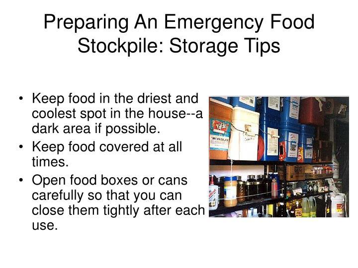 Preparing An Emergency Food Stockpile: Storage Tips