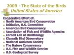 2009 the state of the birds united states of america