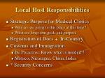 local host responsibilities