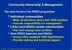 community ownership management