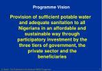 programme vision