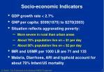 socio economic indicators