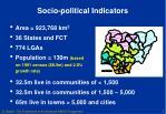 socio political indicators