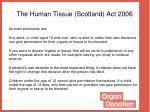 the human tissue scotland act 2006