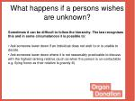 what happens if a persons wishes are unknown1