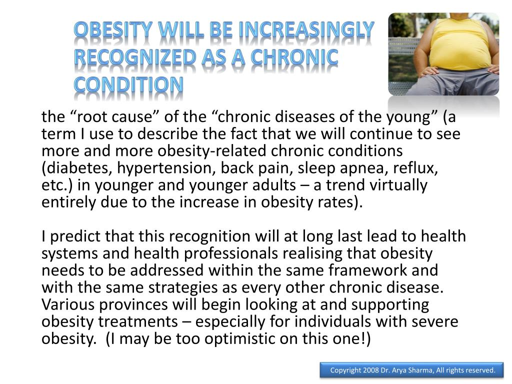 Obesity will be increasingly