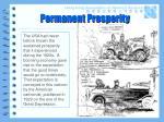 permanent prosperity