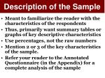 description of the sample