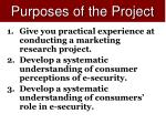 purposes of the project