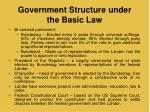 government structure under the basic law