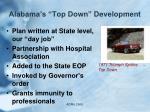 alabama s top down development