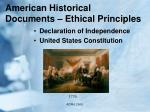 american historical documents ethical principles