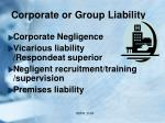 corporate or group liability