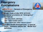 emergency proclamations