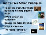 john s five action principles