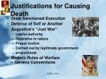 justifications for causing death