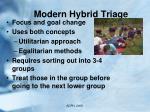modern hybrid triage