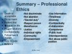 summary professional ethics
