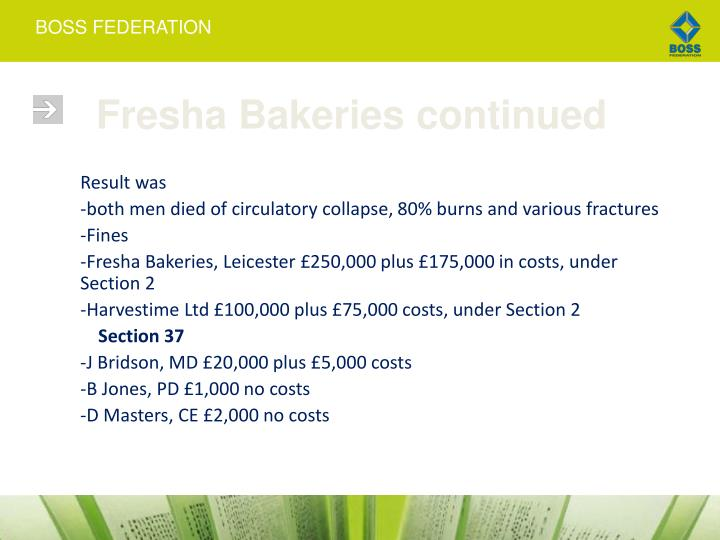 Fresha Bakeries continued