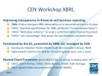 cen workshop xbrl