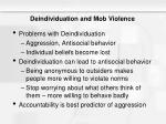 deindividuation and mob violence