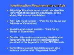 identification requirements on ads